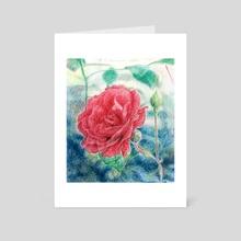 Rosa - Art Card by Emi Vozmediano