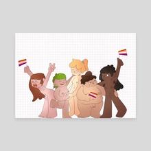 Lesbian Pride - Canvas by Lou Stanton