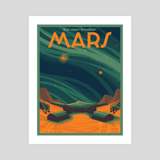 Mars Travel Poster by Snow