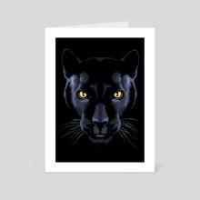 Panther black - Art Card by Alberto Perez