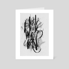 Calligraphy Expressions 01 - Art Card by Satyaki Jo
