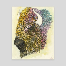 bison 2 - Canvas by j.j. flint