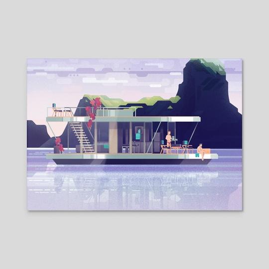 Scandinavian Houseboat by Rob Blumenauer