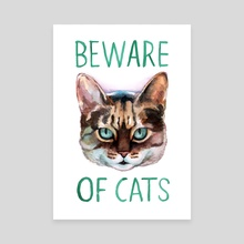 Beware Of Cats - Canvas by Megan Kott
