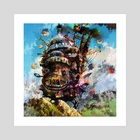 howl's moving castle - Art Print by Maxim G