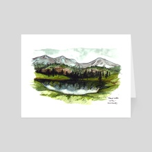 Trout Lake - Art Card by Emily Martin