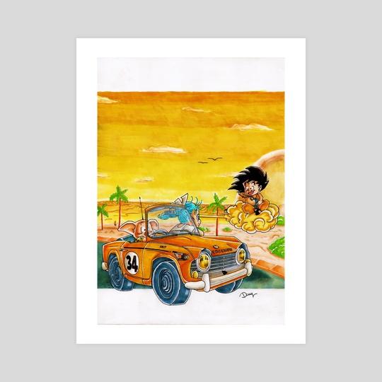 Goku illustration Triumph by Damien
