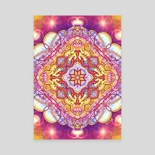 Mandala Three - Acrylic by Haile Dietz