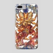 Ganesha, Hindu God of Wisdom - Phone Case by Olga Sternyk