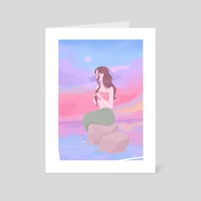 Sunset Mermaid - Art Card by Stealingpotatoes