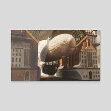Flying Machine barrack - Acrylic by Danel Iriarte