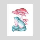 Frog-shroom - Art Print by Tiffany England