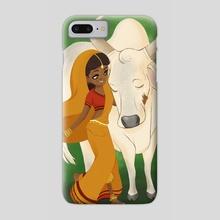 Cowherd Girl - Phone Case by Amanda Erb