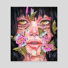 Trauma  - Canvas by Jane Koluga
