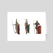 Evolution of the Roman Panoply During the Conquest of Hispania - Art Card by Sandra Delgado