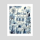 Palace Roof - Art Print by Vikki Chu