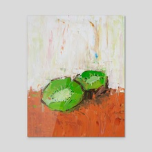 Chaotic Kiwi - Acrylic by Eric Buchmann