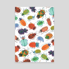Beetle party - Canvas by Billie Michael