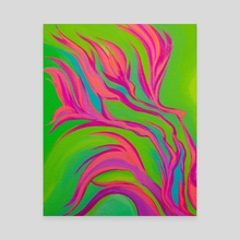 Fluorescent Flora - Canvas by allison j. sebastian