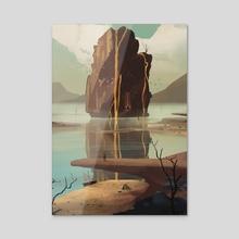 Lava Borgen 2020 - Acrylic by Alexander Radsby