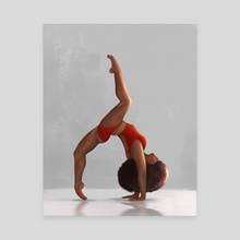 African Contemporary Dancer 7 - Canvas by Renike
