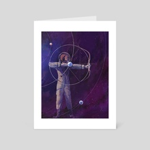 Lagrange Points - Art Card by Rebecca Mock