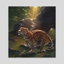 Jaguar - Canvas by Fiona Hsieh