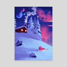 Festive Moons - Canvas by Elias Neophytou