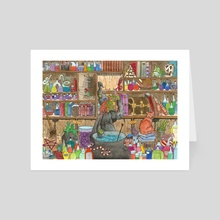 The Witches Brewery - Art Card by stuart Hatt