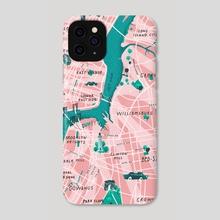 New York City Map - Phone Case by Tanya Shyika