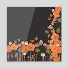 Flower Frame - Acrylic by Hedia Saïdani