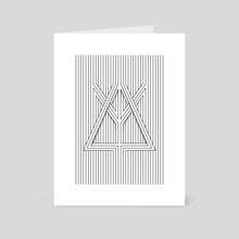 Linea Triangula - Art Card by marcos Bernardes
