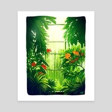 Greenhouse window - Canvas by Esther Viola
