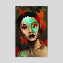 Butterfly Maiden - Canvas by Danielle Maskiell