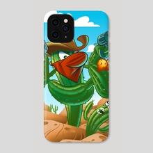 Cactus Cowboy - Phone Case by Vadim Zhulanov