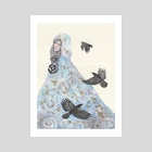Snegurochka - The Winter Maiden - Art Print by Anne-Sophie Cournoyer