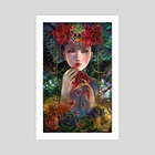 The Rose Eater - Art Print by Schin Loong