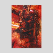 Hellboy - Canvas by Pradika Lahitama