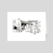 Chinatown Bangkok, Thailand - Art Card by Raluca Desa