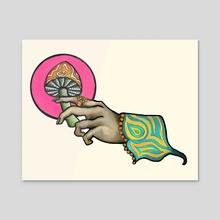 Shroomies - Acrylic by Cydney Goodin