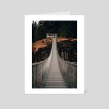Elk Falls Suspension Bridge - Art Card by Carter Robertson