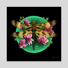 Halloween Penant Dragonfly - Canvas by Solana Rey