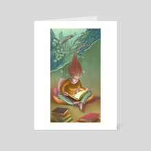 Feed Your Imagination 2 - Art Card by Natalia Salvador
