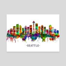 Seattle Washington Skyline - Canvas by Towseef Dar