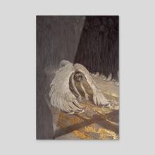 Descent of Man - Acrylic by Rebecca Yanovskaya