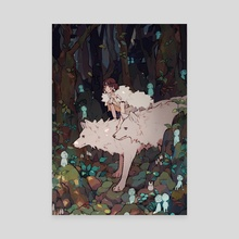 Princess Mononoke - Canvas by Yueko