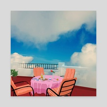 Breakfast with a view - Canvas by Emanuele Borasco