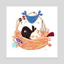 Borb Omens Nest - Canvas by Eugene Oakwood