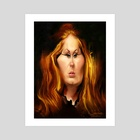 Adele - Art Print by Alexander Novoseltsev