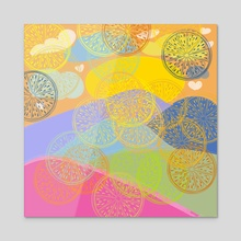 The Odd lemon 5 - Acrylic by Navita Williams
